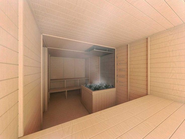 Die besten 25+ Hotel sauna Ideen auf Pinterest Hotel mit - schlichtes sauna design holz seeblick