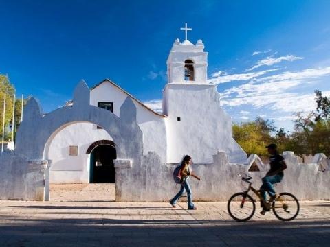 Adobe Church, San Pedro de Atacama in #Chile