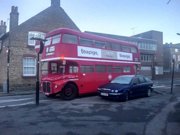 the teapigs routemaster in all its glory! #teapigsfreeteaday