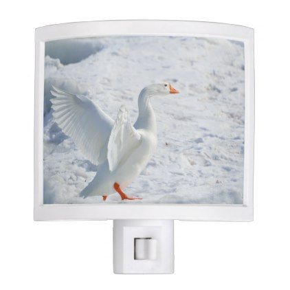 Snow Goose Night Light - parenting parents kid children mom dad family