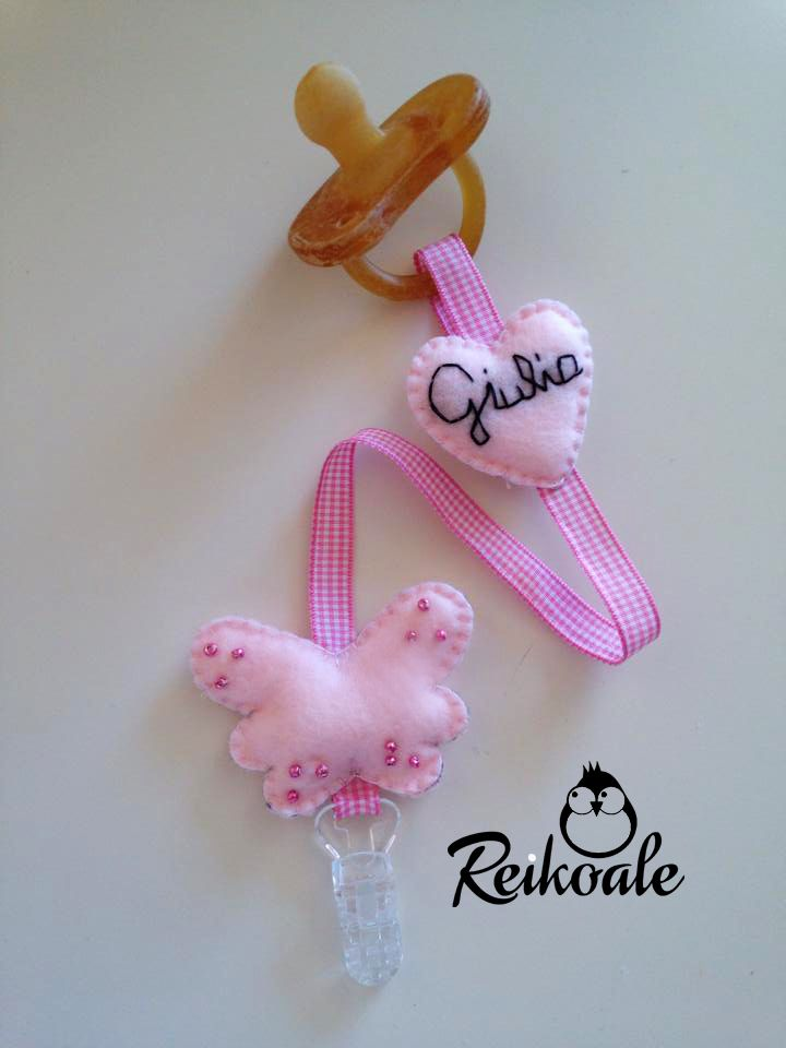 #fattoamano #handmade #reikoale #creazioni #pannolenci #feltro #nome #portaciuccio