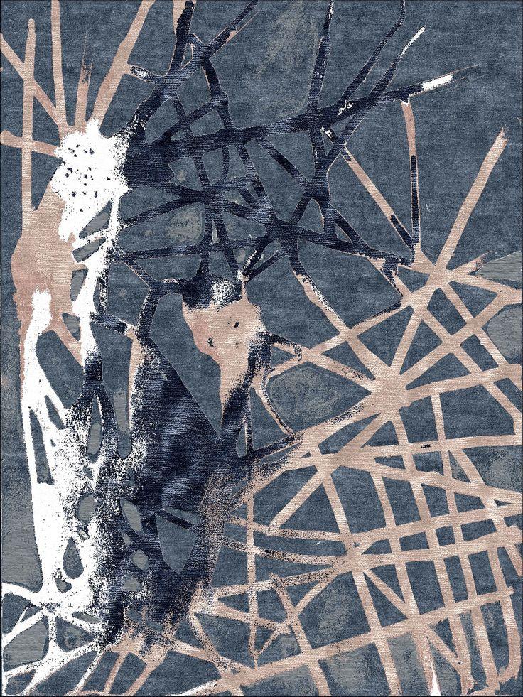 Jonas Bergkvist Kaleidoscope Blue Woven Accents Rug