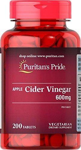 Puritan's Pride Apple Cider Vinegar 600 mg-200 Tablets