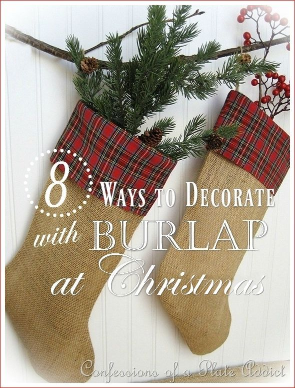 Eight Ways to Decorate with Burlap at Christmas