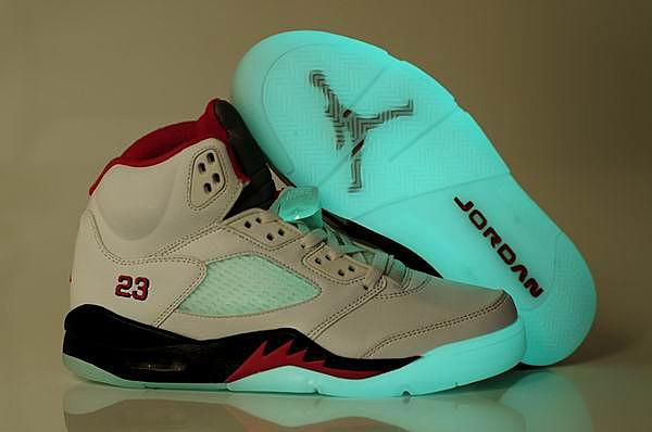 http://www.myjordanshoes.com/jordan-5-glow-in-dark-white-black-fire-red-p-1277.html JORDAN 5 GLOW IN DARK WHITE BLACK FIRE RED Only $77.30 , Free Shipping!