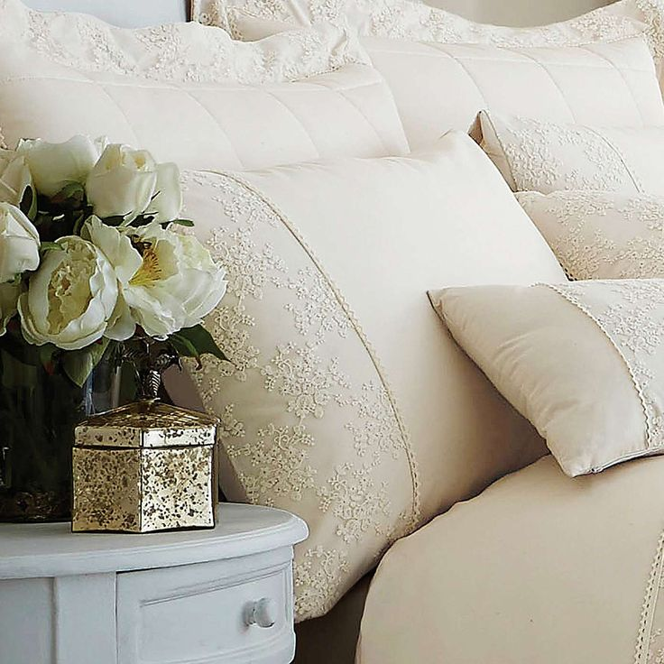 Antique Lace Cream Bed Linen Collection | Dunelm