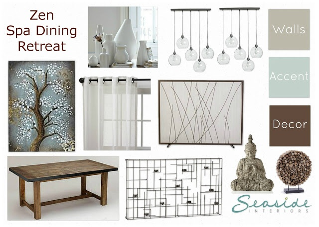 Seaside Interiors: Zen/Spa Retreat Living And Dining Room Mood Board 2 Ways! Part 50