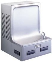 Halsey Taylor WC8AFS-Q-PV ADA Approved Barrier-Free Wall-Mount Water Cooler, Platinum Vinyl