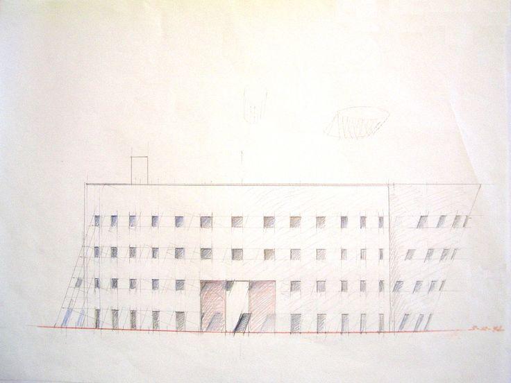 1988 LAVAGNA 1988.5_carta vegetale cm. 50 x 70 by Brunetto De Batté