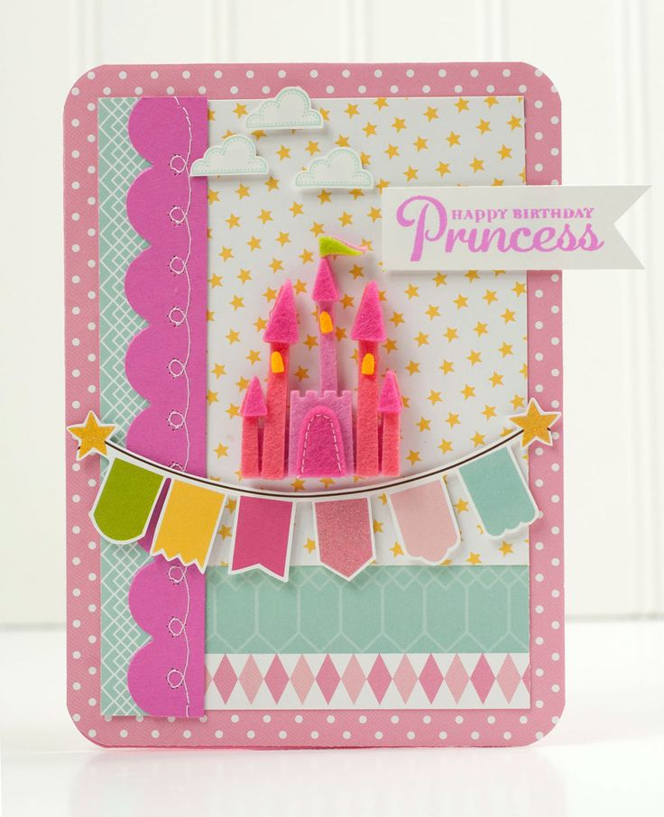 """Happy Birthday Princess"" Card *Pebbles* - Scrapbook.com"