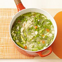 Spring Vegetable Soup with Orzo by weightwatchers #Soup #Vegetable #Healthy