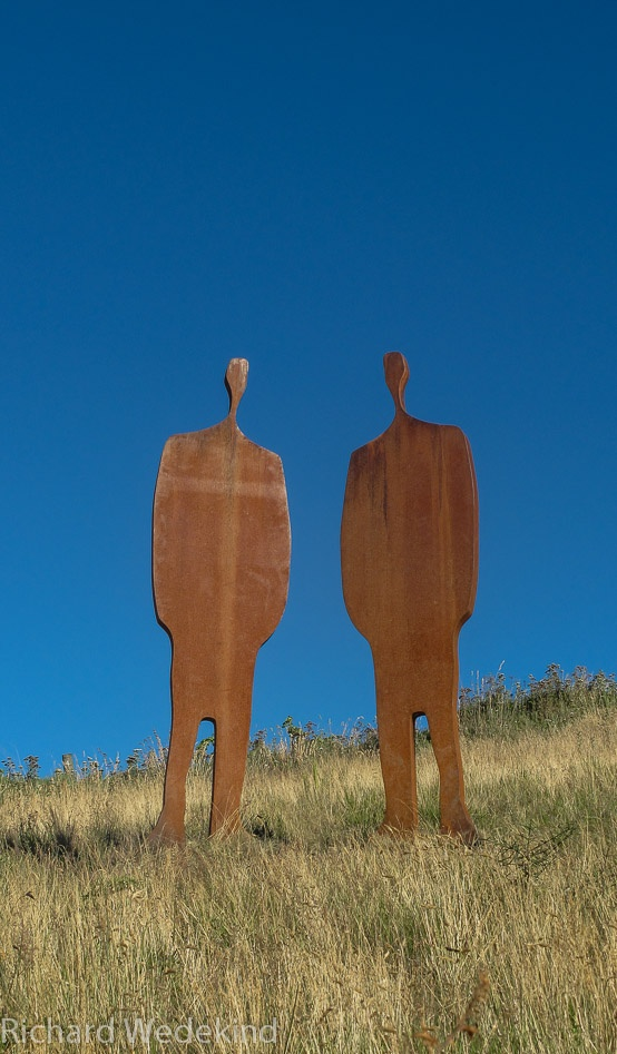 Call Security 2011: Corten steel; approximately 2m high. ArtBay Gallery, Queenstown.