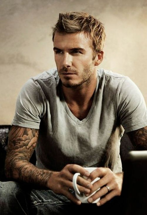 David Beckham, a whole lot of yum :)