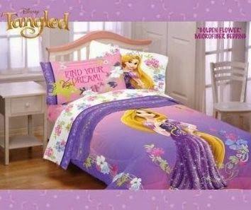 Bedroom Decor Ideas and Designs: Top Five Disney's Princess Rapunzel Bedding (Tangled)