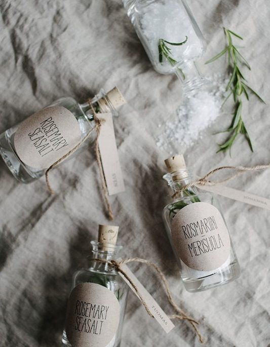 Do Yourself a Little Favour : Alternative DIY Wedding Favours  // Sea salt with herbs