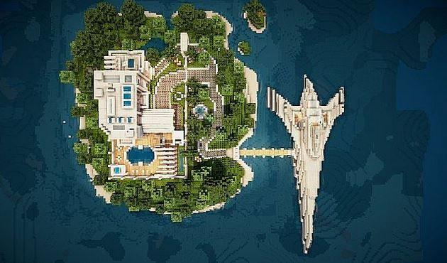 Virage Modern Island House Map AzMinecraftcom Minecraft