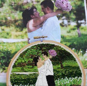 Fotografias para um momento especial? Não! Lady Jane Longstitches cria fantásticos bordados! http://followthecolours.com.br/art-attack/fotografias-para-um-momento-especial-nao-lady-jane-longstitches-cria-fantasticos-bordados/