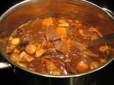 köttgryta, högrev, märgpipa, gryta, highland cattle