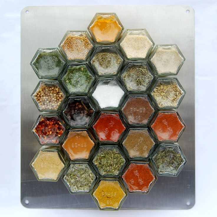 Yet another cool idea. Great way to keep spices handy, and