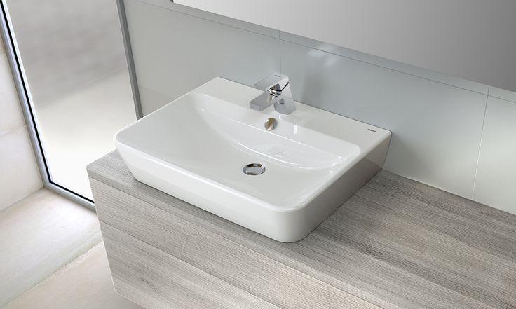 50 best lavabos images on pinterest bowl sink enabling for Lavabos cuadrados sobre encimera