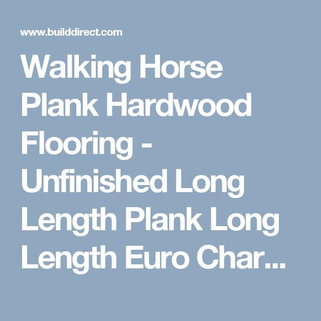 "Walking Horse Plank Hardwood Flooring - Unfinished Long Length Plank Long Length Euro Character Plank / Hickory / Euro Character / 7"" / Unfinished"