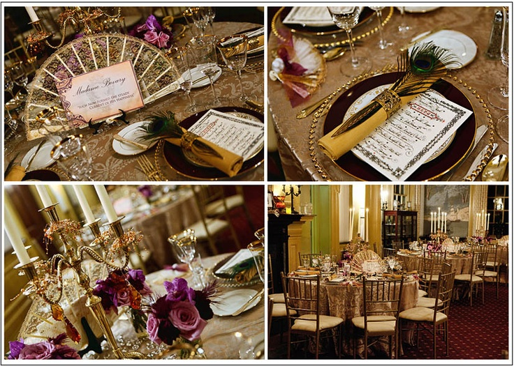 Victorian Themed Wedding Reception Ideas _ Gold Everything