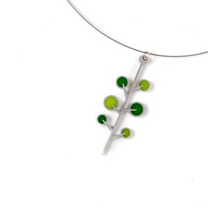 Tree Necklace now featured on Fab. Designer Kathleen Mattingly Dautel's background in architecture reveals itself in Spark Metal Studio's crisp lines and spare shapes