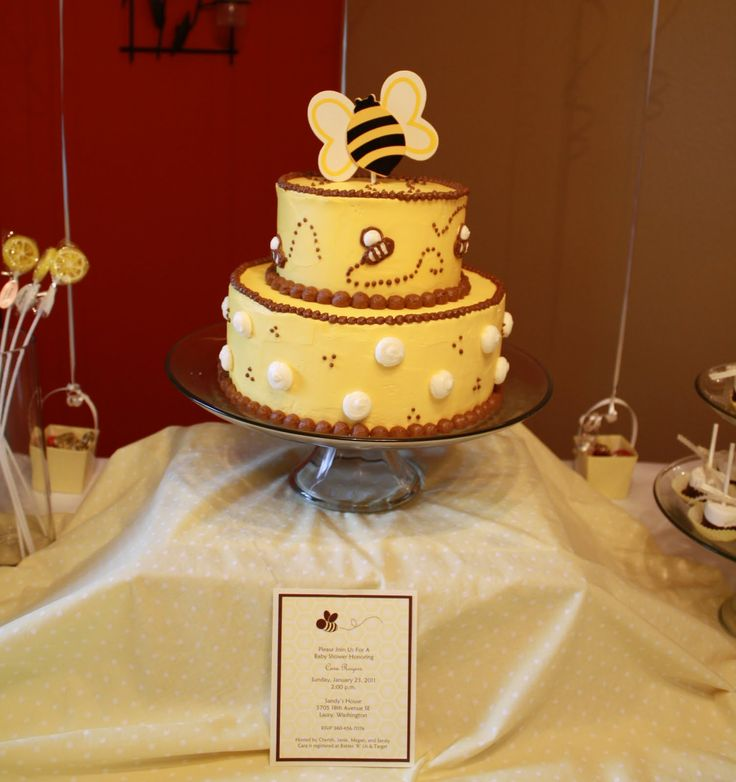 Party Cakes Bumble Bee Cake For Baby Shower