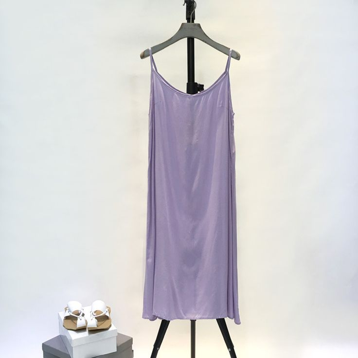 New Arrival Solid Color Cheap Bottoming Vest Casual Sundress    #purple #sundress #cotton #casual #cheap