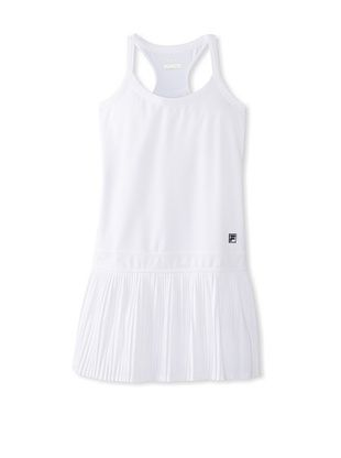 49% OFF Fila Women's Pleated Dress (White/white)