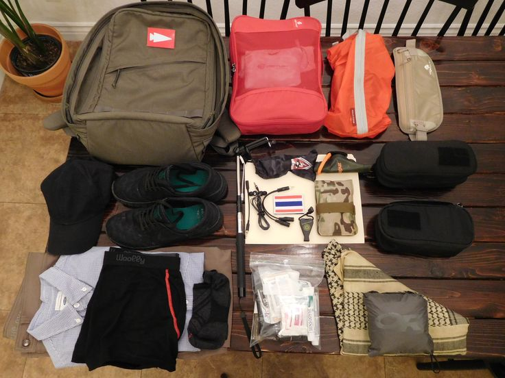 Loadout - 2 weeks in Thailand in a GORUCK GR1
