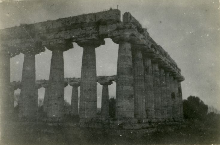 First temple of hera in paestum italy 194344 the