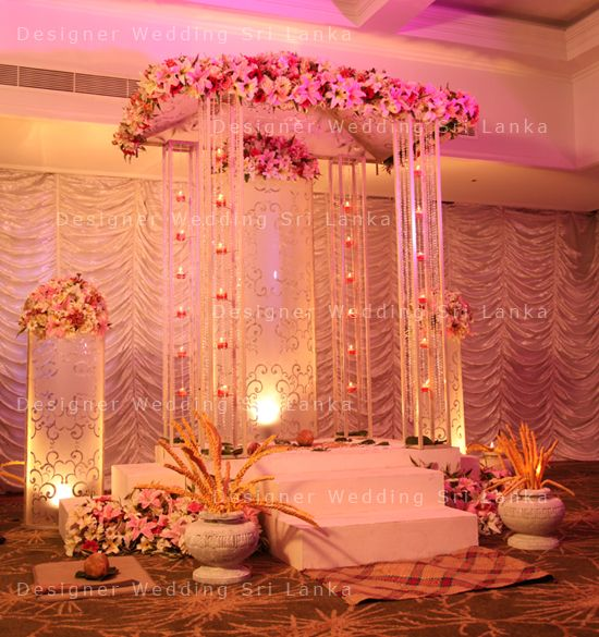 Pretty poruwa designer wedding sri lanka home poruwa for Wedding house decoration ideas
