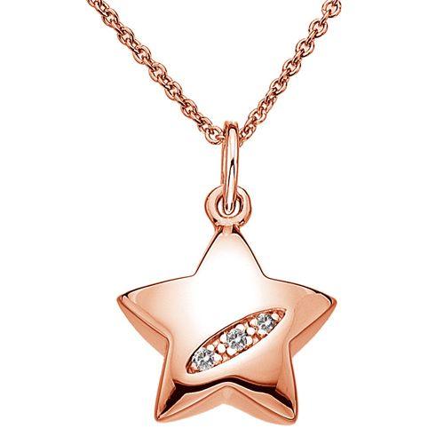 Stříbrný přívěsek Hot Diamonds Shooting Stars Star Rose Gold