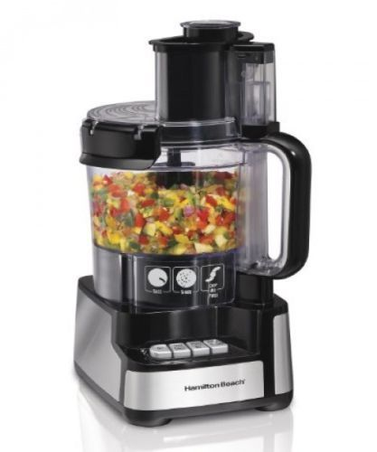 Kitchen Food Processor Electronic Touch 12 Cup Stack Snap Blades Puree Blender