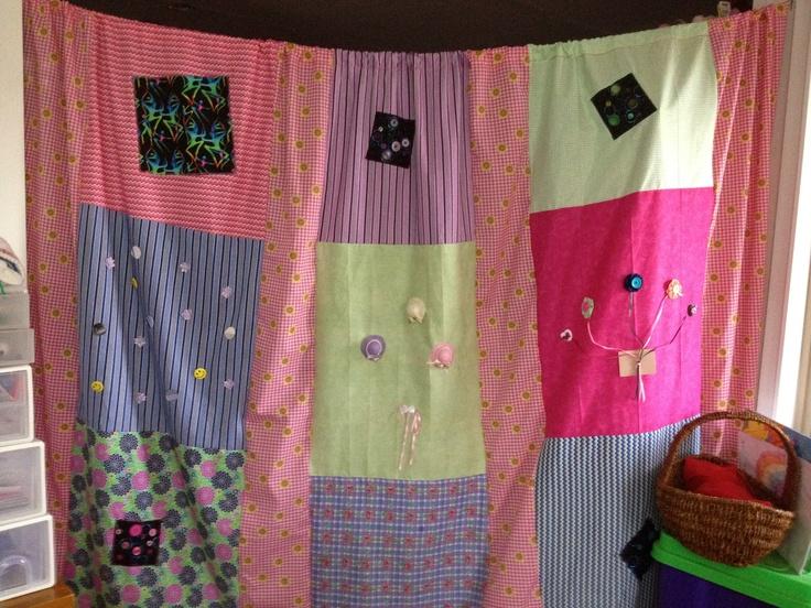 Scrap material curtain