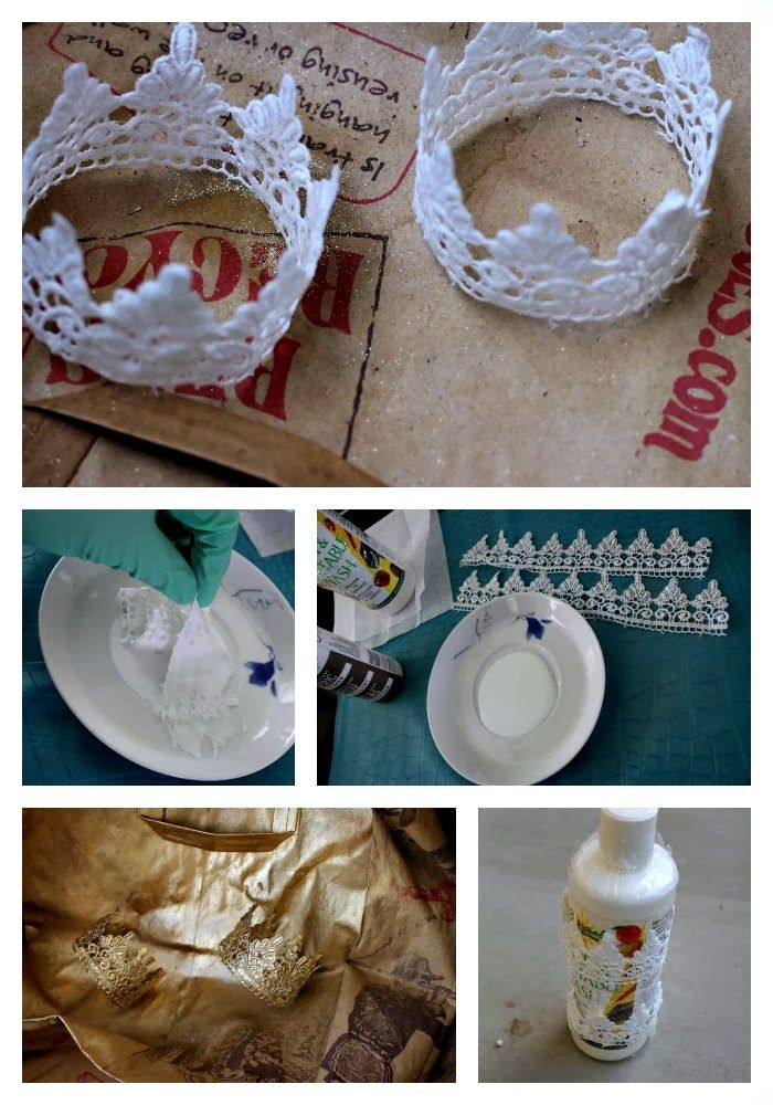 being MVP: DIY Gold Glitter Lace Crown Headband {Tutorial}