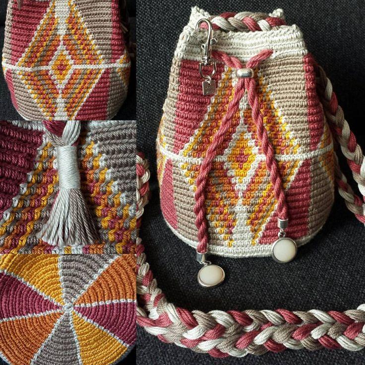 "17 Likes, 1 Comments - Kralentik (@kralentik) on Instagram: ""#minimochila #mini #mochila #tapestry #tas #bag #haken #handmade #kralentik #mode #fashion #cotton…"""