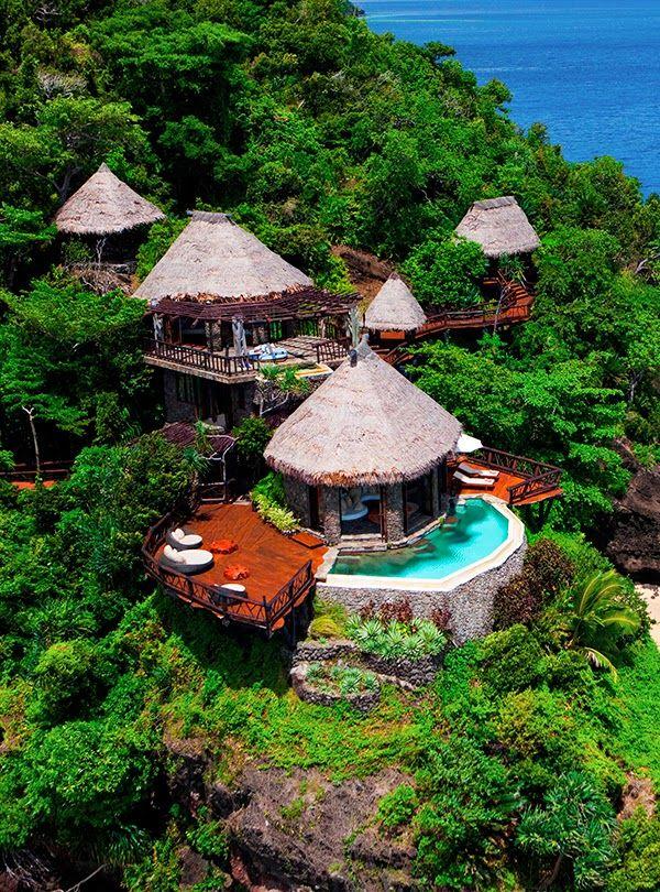 Peninsula Villa Lounge, Laucala Island Resort, Taveuni, Fiji http://www.dreamtripsdepot.com