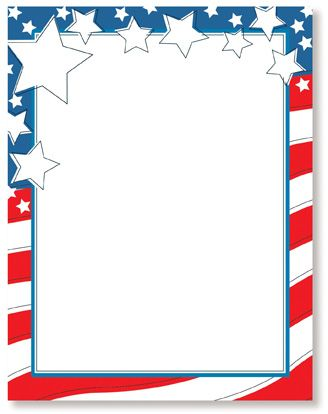 4th Of July Printable Stationery Wedding Letterhead Letter Sheets Thank You Cards Sationery Pinterest