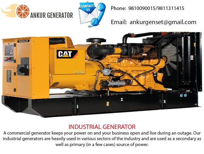 A commercial generator keeps your power on and your business open and live during an outage. Our industrial generators are heavily used in various sectors of the industry and are used as a secondary as well as primary (in a few cases) source of power.