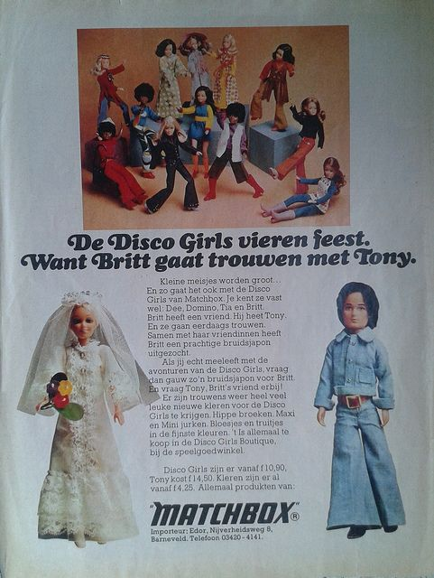Disco girls ** Dutch vintage ads from Tina: the largest magazine for girls 1978