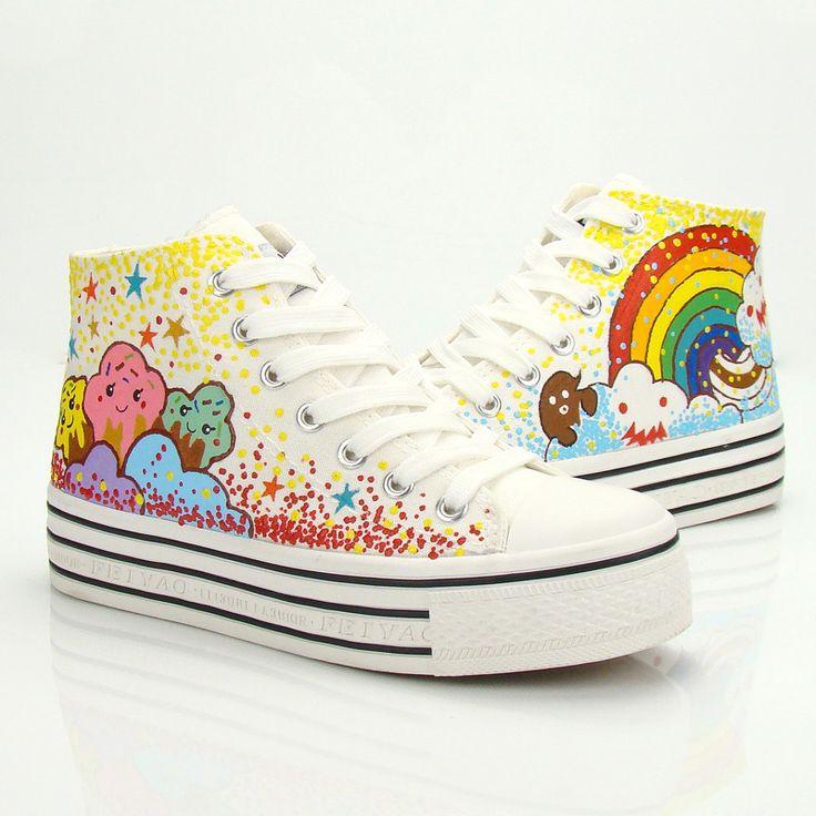 Cute sweet stars rainbow shoes CuteKawaiiHarajukuFashionClothing&AccessoriesWebsite. SponsorshipReview&AffiliateProgramopening!