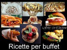 Menu per feste ricette facili, ricette per buffet, feste di compleanno, festa della befana, ricette stuzzichini, ricette cornetti da farcire, dolci, rustici,
