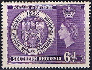 Southern Rhodesia 1953 Rhodes Exhibition Fine Mint SG 76 Scott 79 Condition Fine MNH Only one post charge applied on multipule purchases