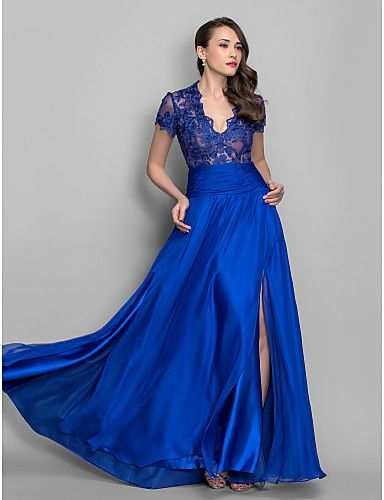 Formal Evening / Military Ball Dress - Royal Blue Apple / Hourglass / Inverted Triangle / Pear / Plus Sizes / Petite / Misses 2016 - $149.99