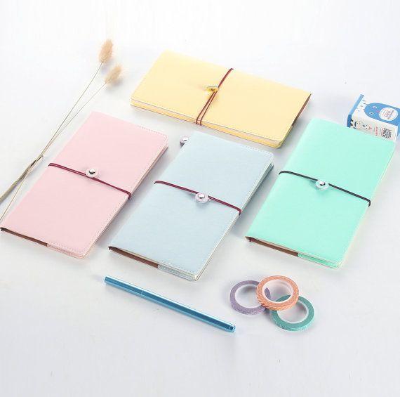 Carnet de notes, Journal rechargeable, Fauxdori de pastel voyageur, couverture en Faux cuir - PJ071