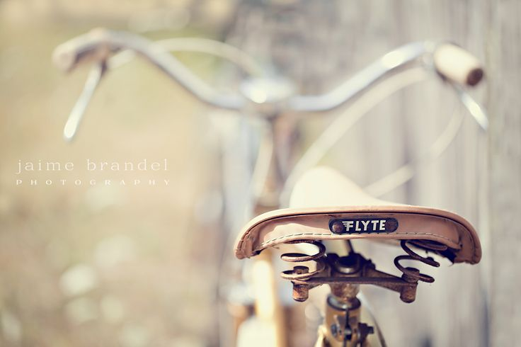 I wish I could have an old bike like this. Maybe it's because I long to go back to simpler times, when daily life was at a much slower, more leisurely pace. I just adore those little wire coils under the seat, and the little name plate.. perfect!