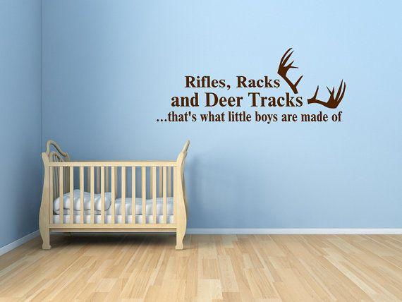 Rifles, Racks, and Deer Tracks Vinyl Decal