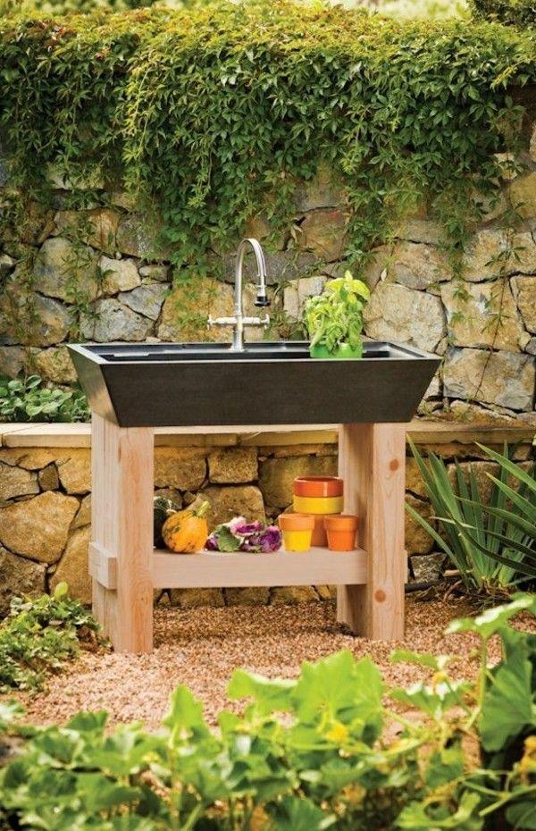 Outdoor Waschbecken.Originelle Ideen Für Gartenspüle Gardening And Beautiful
